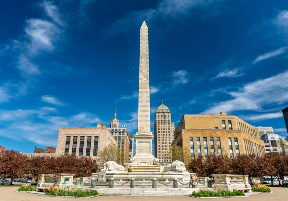 McKinley Monument on Niagara Square in Buffalo, New York, USA