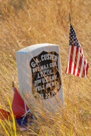 Grave Stone at Little Bighorn Battlefield National Monument