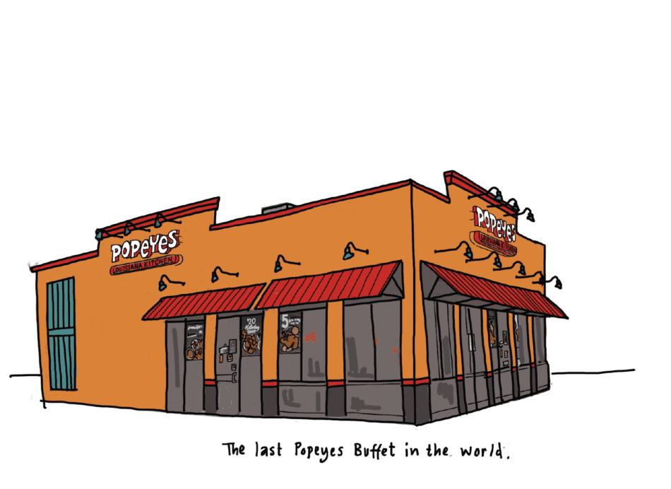 Popeye's Buffet, Lafayette, LA